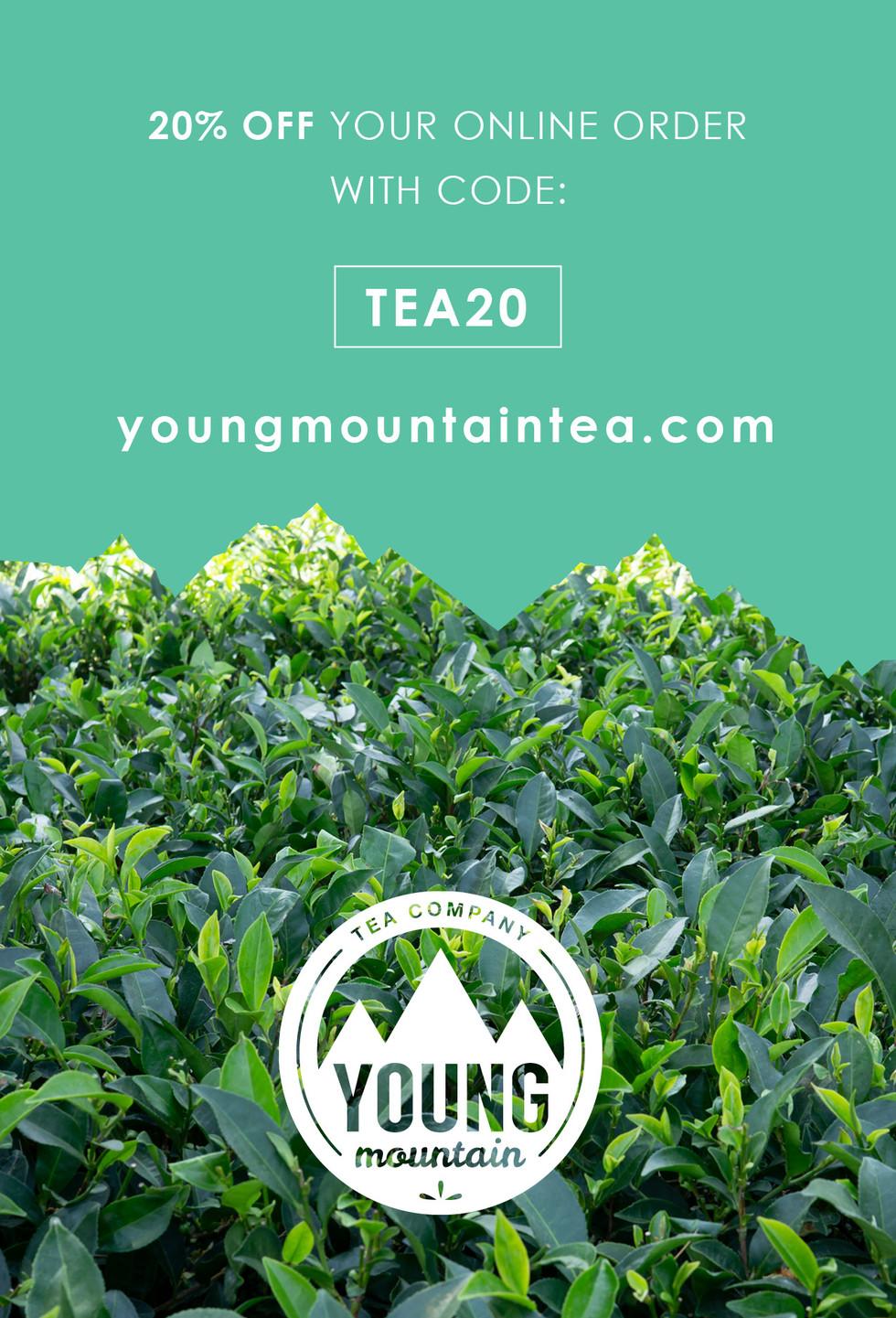 young mountain tea postcard mitra dunn