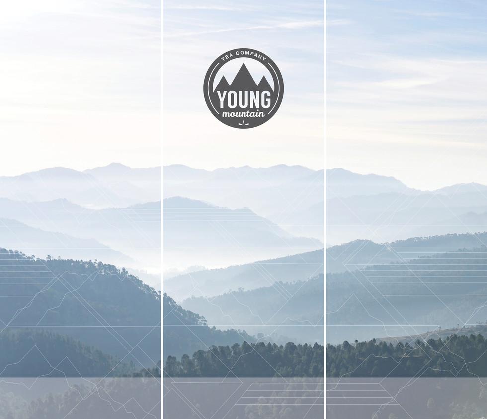 young mountain tea banners mitra dunn