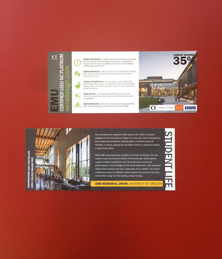 Tour Flyer for Erb Memorial Union, University of Oregon