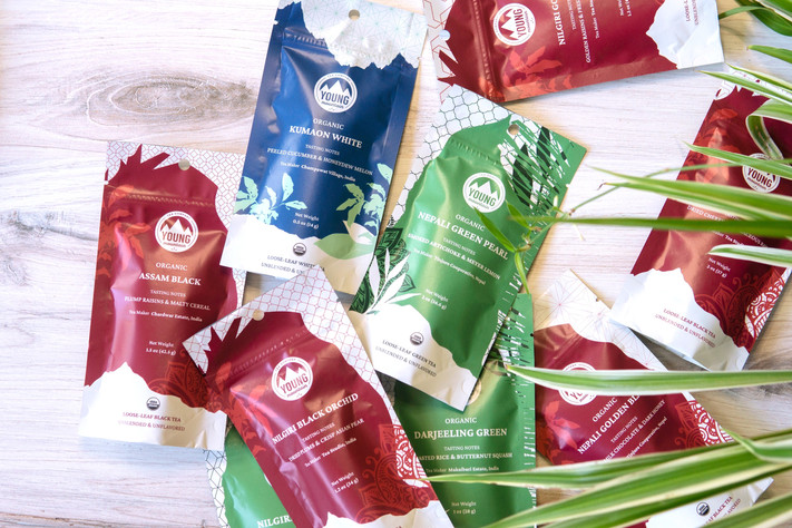 Young Mountain Tea Sustainable Packaging