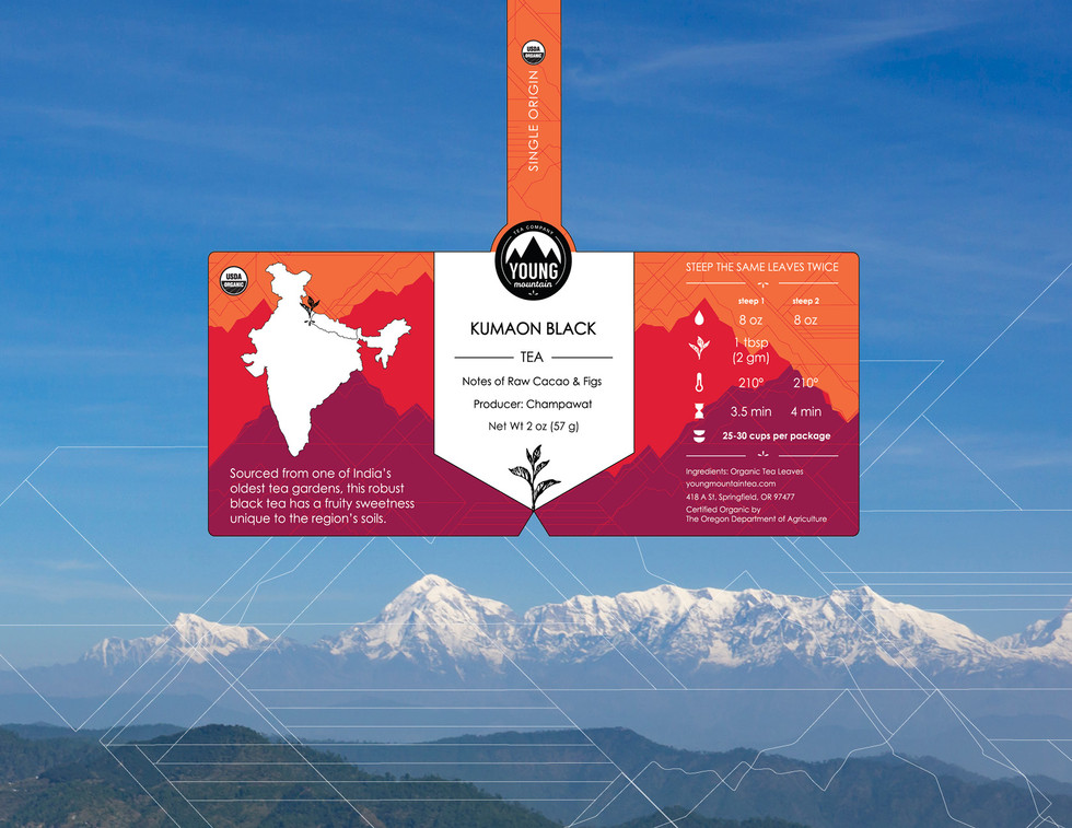 young mountain tea labels mitra dunn