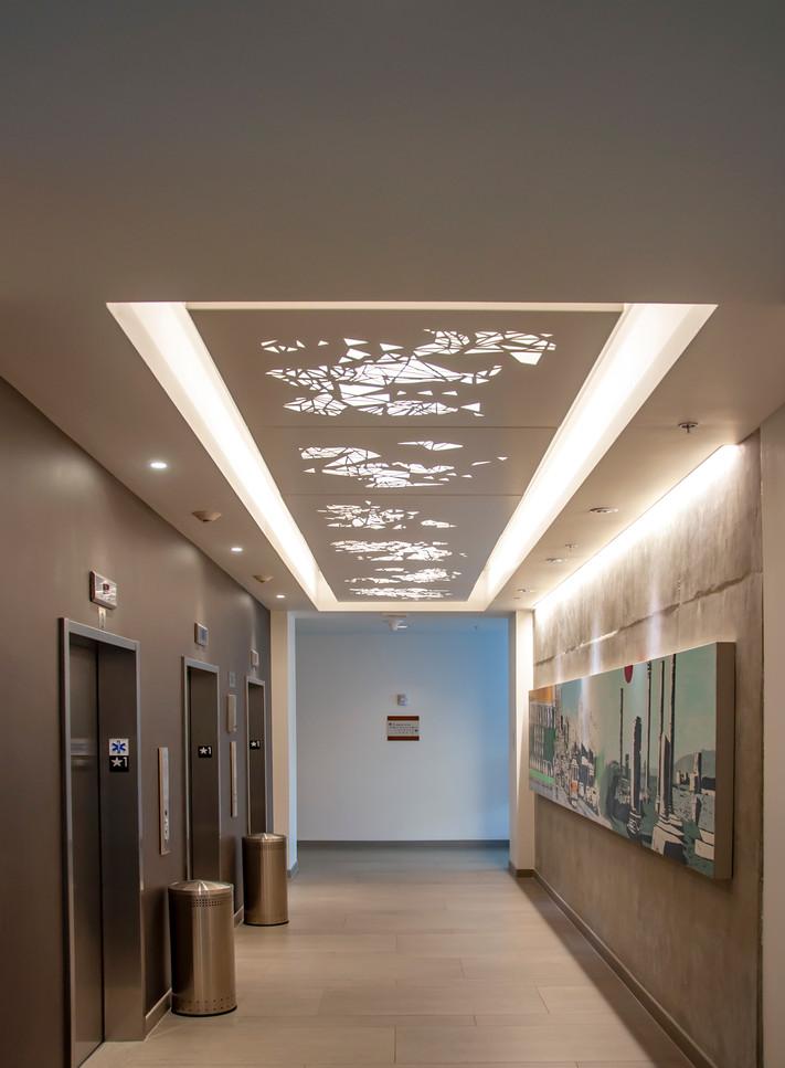 Elevator ceiling cloud