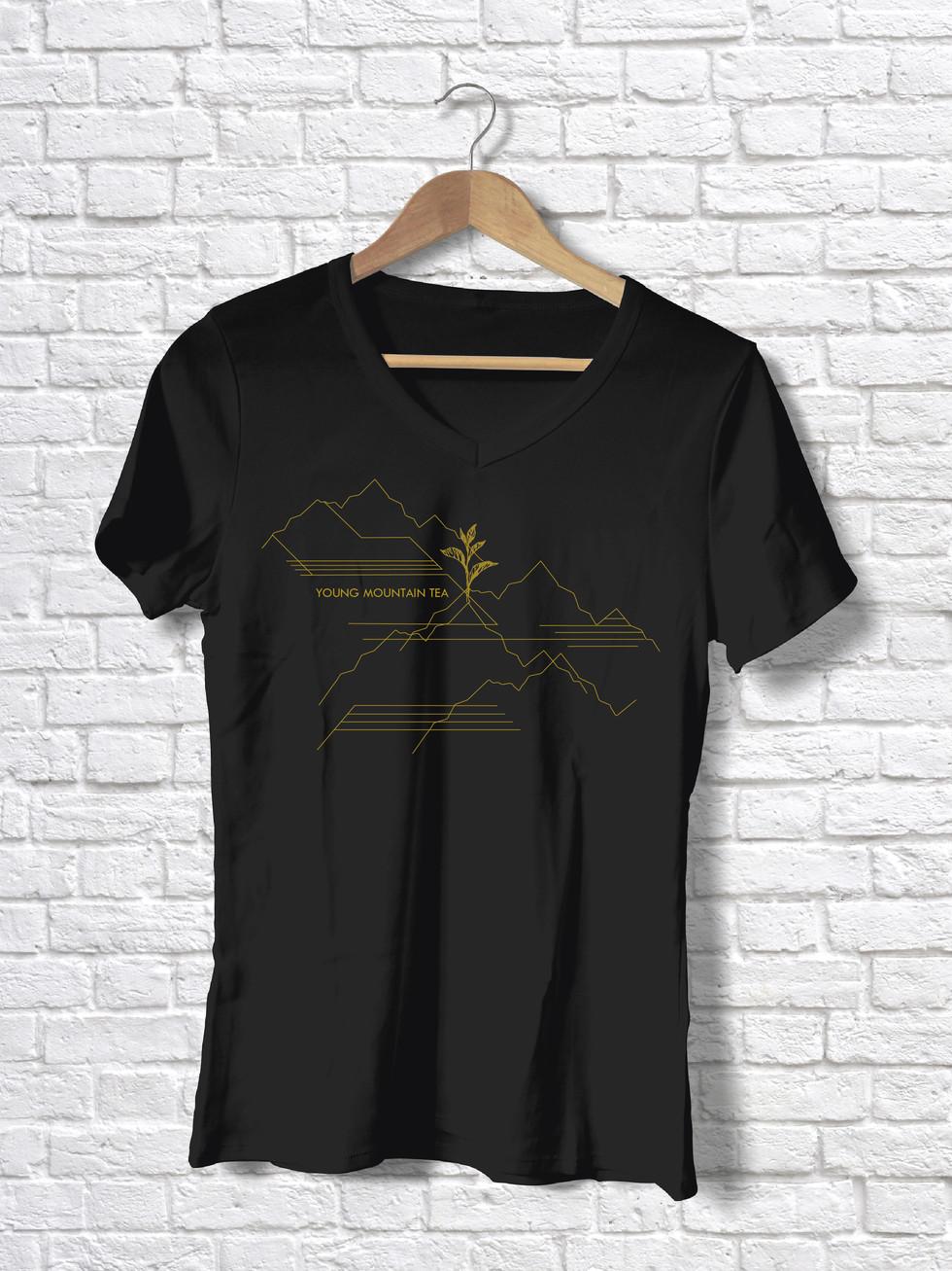 young mountain tshirt design mitra dunn
