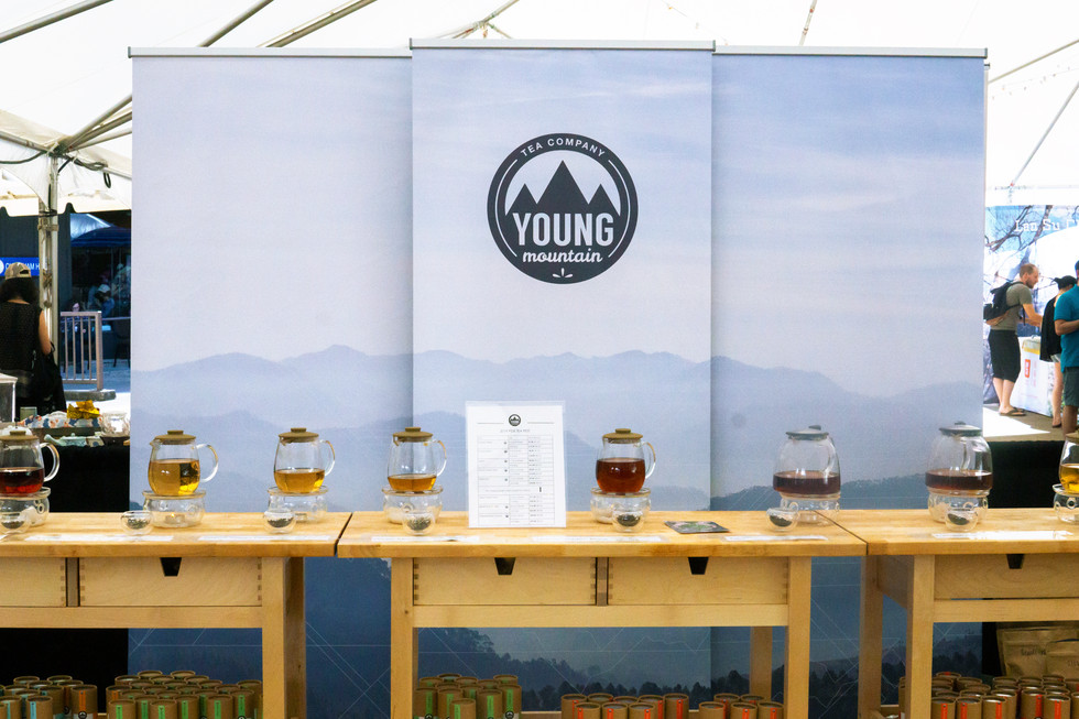 young mountain tea banners