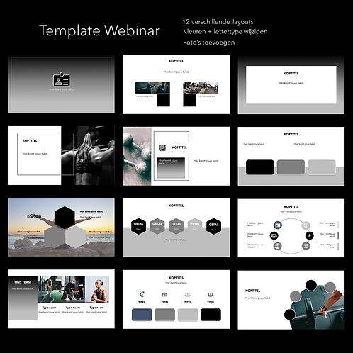 PowerPoint template Minimaal 12 slides (ex BTW)