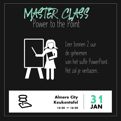 PowerPoint Template Event - Master class