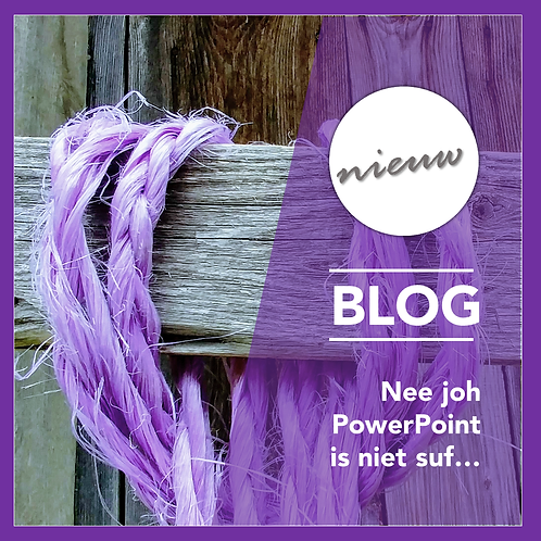 PowerPoint Template Blog -Schuine vakken