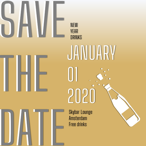 PowerPoint Template Event - Save the date