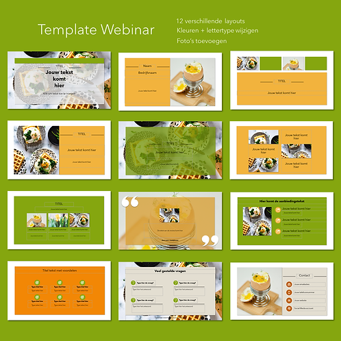 PowerPoint template Webinar 12 slides (ex BTW)