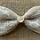 "Thumbnail: The ""Love"" Burlap dog bow tie"