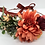 "Thumbnail: The ""Burgundy"" dog flower wreath collar"