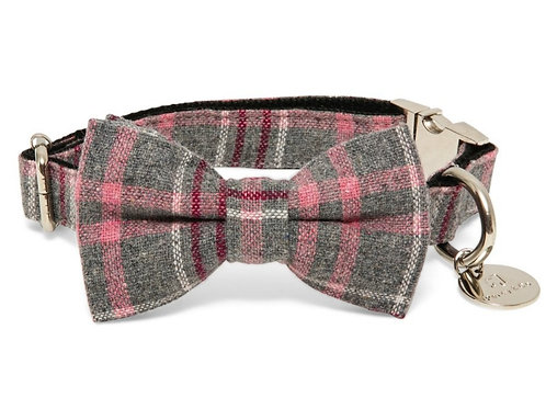 """The """"Winchester"""" bow tie collar and lead set"""