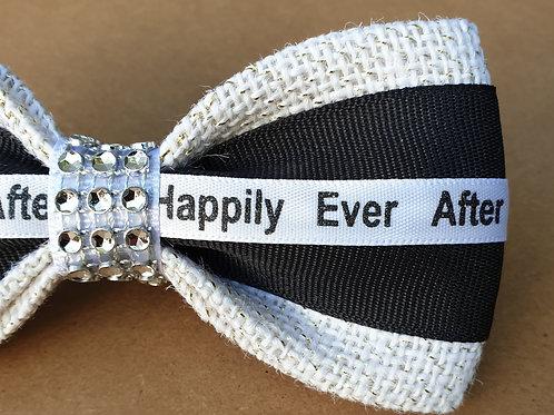 "The ""Black Jewel"" dog bow tie"