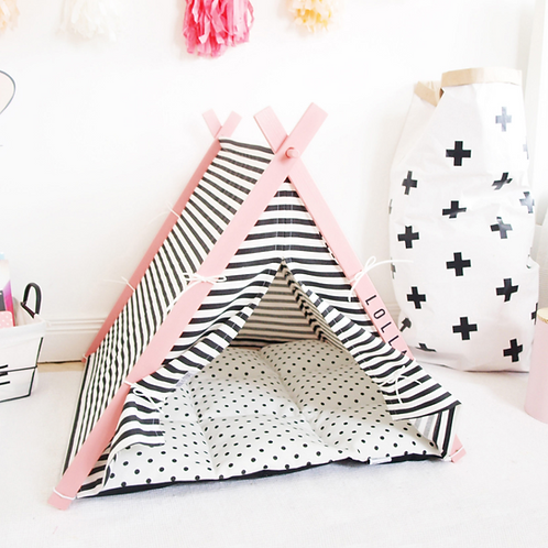 Pink Frame Teepee Tent