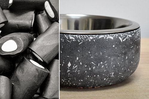 """Liquorice"" dog bowl"