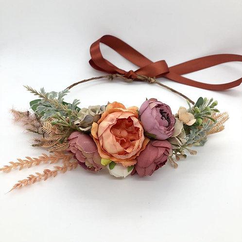 The Rust Flower Collar Wreath