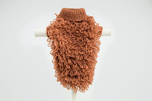 Curly Knit Jumper- Ginger Spice