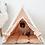 Thumbnail: Boho Beige dog teepee tent
