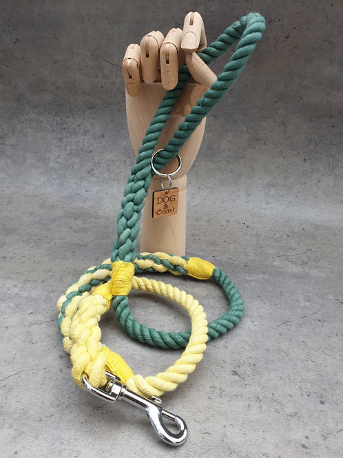The Yellow Spliced Ombre Rope Lead