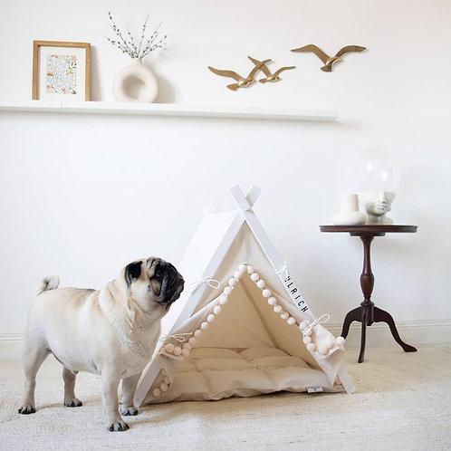 Ivory Boho Dog Teepee