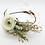 "Thumbnail: The ""Ivory Gold"" flower wreath dog collar"