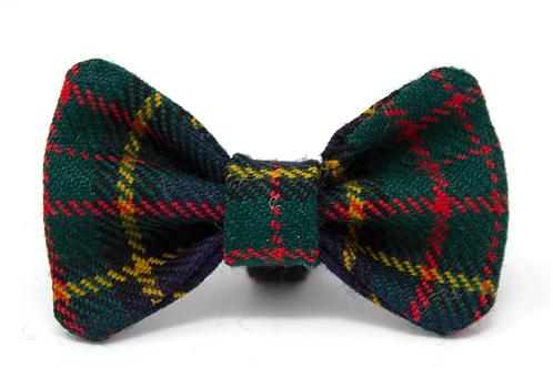 Royal Emerald Wool Tartan Bow Tie