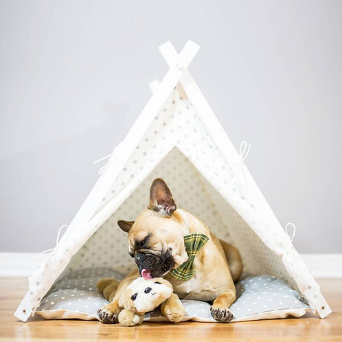Grey Spot Dog Teepee