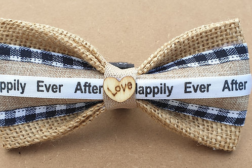 """The """"Gingham"""" Burlap Dog Bow Tie"""
