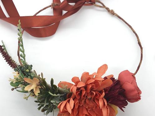 "The ""Burgundy"" dog flower wreath collar"