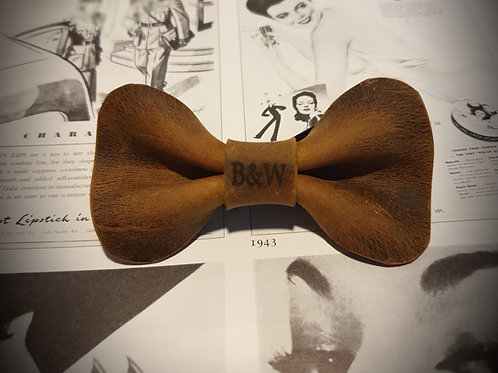 "The ""Copper"" Leather Bow Tie"