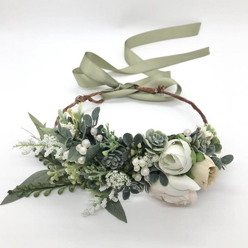 "The ""Greenery"" dog flower collar"