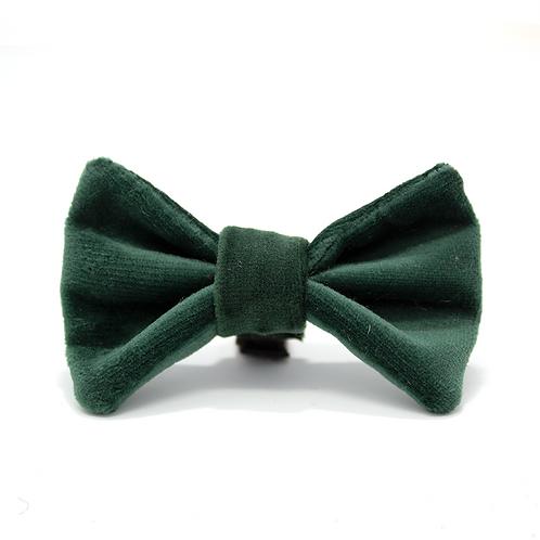 """""""Olive"""" Velvet Bow Tie"""
