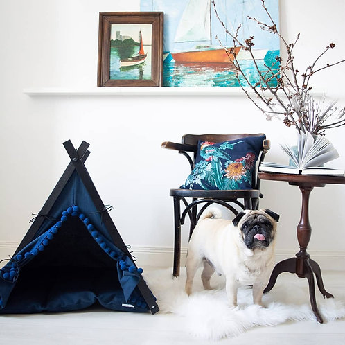 Navy Boho Dog Teepee