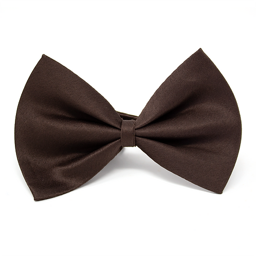 Brown Satin Dog Bow Tie