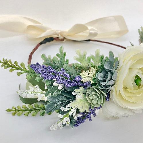 The Lavender Flower Collar Wreath