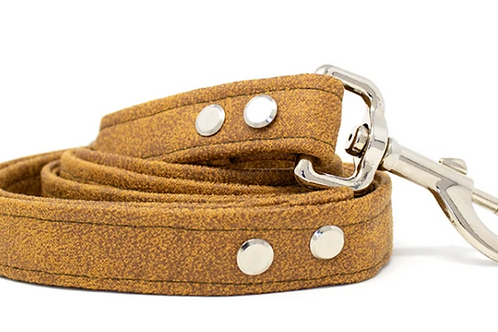 Tobacco Faux Leather Dog Lead