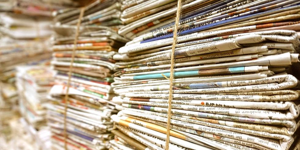 Grote Inzameling oud papier. Ook in buitengebied!