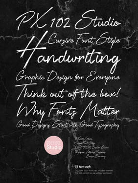 PX102 Studio Cursive Font Poster.jpg