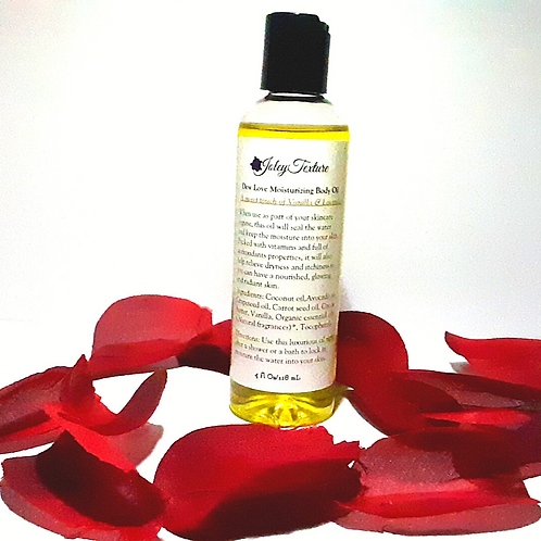 Moisturizing Body oil-with Vanilla, Lavender and Ylang Ylang-rRekive dry and itc