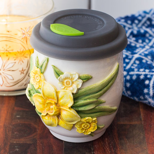 Yellow & White Daffodil Tumbler