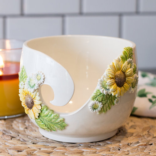 Sunflower Yarn Bowl - MTO