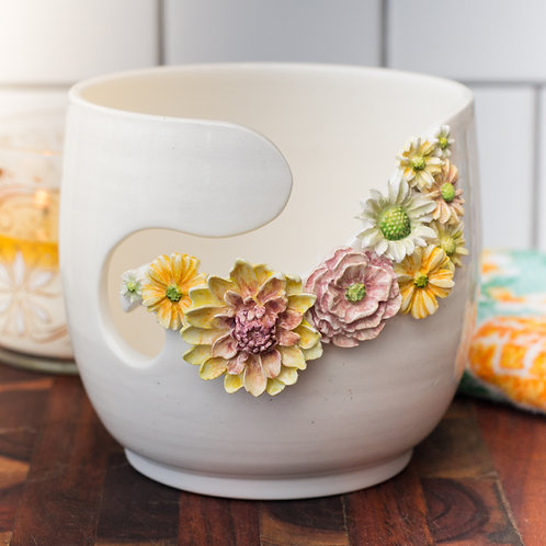 Floral Wreathed Yarn Bowl - MTO