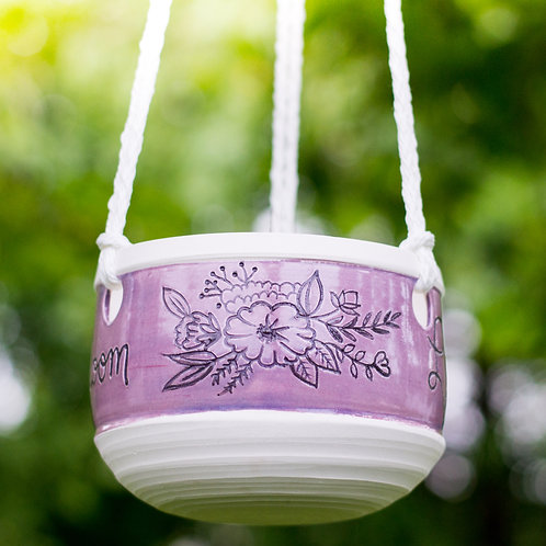 Live Life In Full Bloom | Hanging Planter