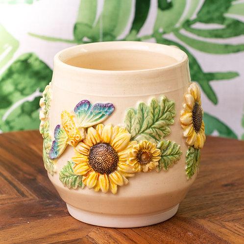 Sunflowers & Cicadas Mug | Made-To-Order