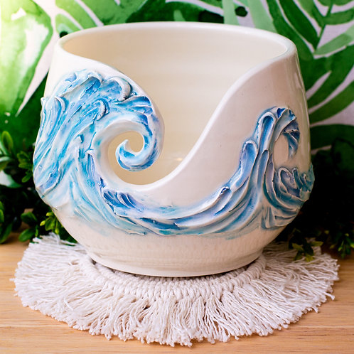 Waves & Manta Ray Yarn Bowl | MTO