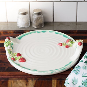 Serving Tray | Strawberries & Blossoms | MTO