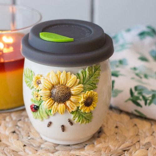 Sunflower with Ladybug & Ants Tumbler