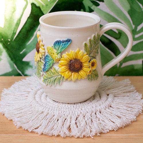Sunflower &Cicada Mug