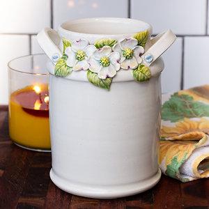 Dogwood Wreathed Vase