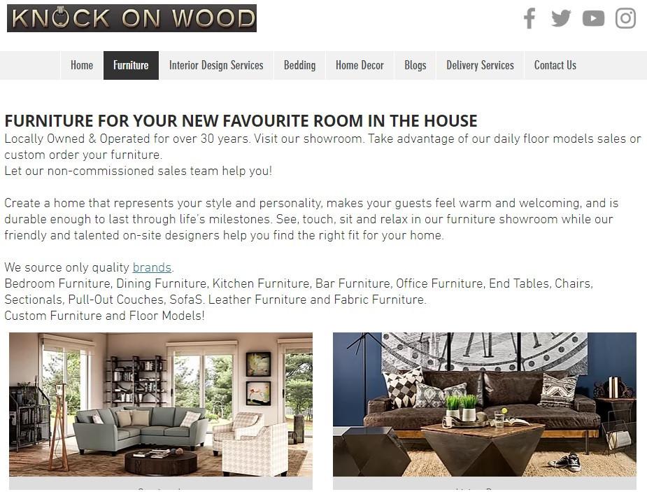 Knock On Wood Website